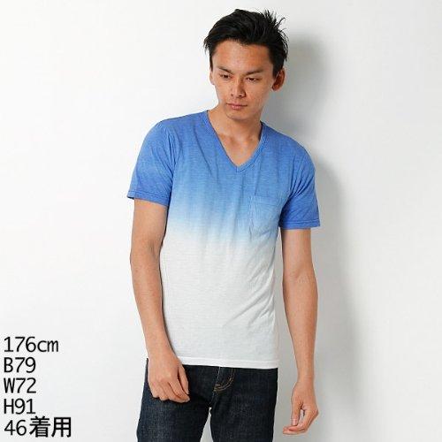 MKオム(MK homme) 【アウトレット】Tシャツ(グラデーションカットソー)【55ブルー/46(M)】