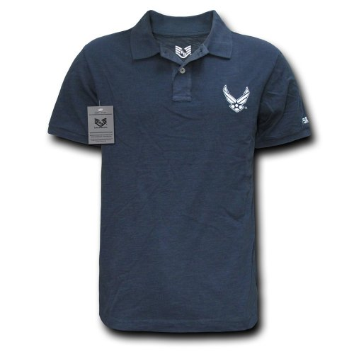 Rapiddominance Air Force Military Polo Shirt, Navy, Large