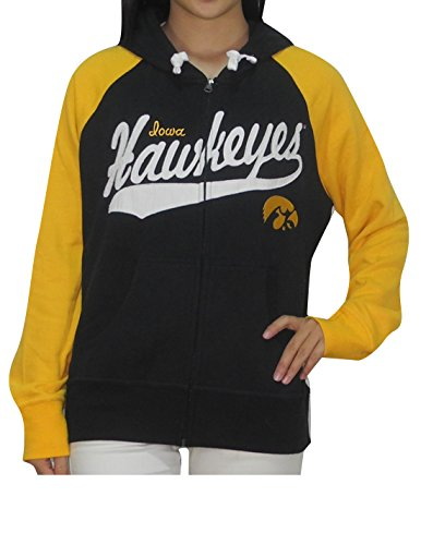 NCAA IOWA HAWKEYES Womens Zip-Up Hoodie / Jacket