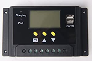 Signstek LCD 30A 12V/24V 360W/720W PWM USB Solar Panel Regulator Adapter Charge Controller For Street Lamp Base Station Solar Panel System Environment Monitor Battery Charging Wifi Hotspot Etc from Signstek