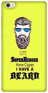 The Racoon Lean Super Beard hard plastic printed back case / cover for Xiaomi Mi Note