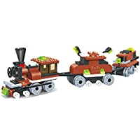 Limited Edition Train 169pcs Building Blocks Steam 2 Windows Cabin Engine Locomotive Railway Train Set Comes With...