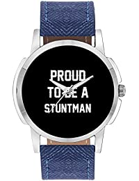 Wrist Watch For Men - Proud To Be A Stuntman Best Gift For STUNTMAN - Analog Men's And Boy's Unique Quartz Leather...