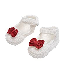 Baby wool shoes / Knitted wool shoes / Baby booties / White Color / Pre walker