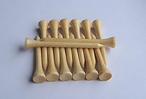 Wzyuan Pack Of 100pcs Bamboo Golf Tees 2-34 Inch Durable Natural Bamboo Wood Golf Tees by WZYuan