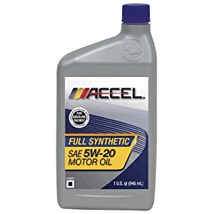 Accel 62697 SAE 5W-20 Full Synthetic Motor Oil - 1 Quart Bottle by Accel
