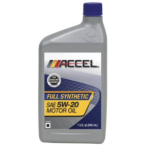 accel 62697 6pk sae 5w 20 full synthetic motor oil 1
