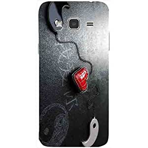 Casotec Chinnese Yin and Yang Design 3D Printed Back Case Cover for Samsung Galaxy J3 (2016)