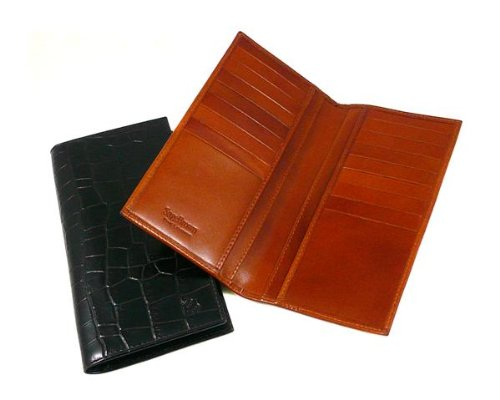 Sage Brown Genuine Leather Men's Tall Breast Wallet