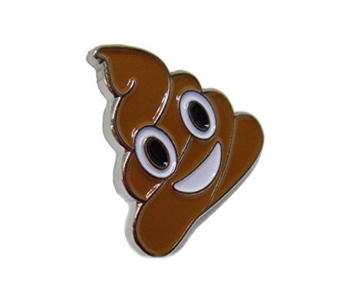 PinMaze Pile of Poo Emoji Theme Enamel Lapel Pin (Silver color) (Mr Heater Case compare prices)
