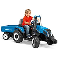 Peg Perego New Holland T8 Tractor & Trailer (Blue)