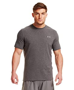 Under Armour Men's Charged Cotton® Short Sleeve T-Shirt Large Carbon Heather