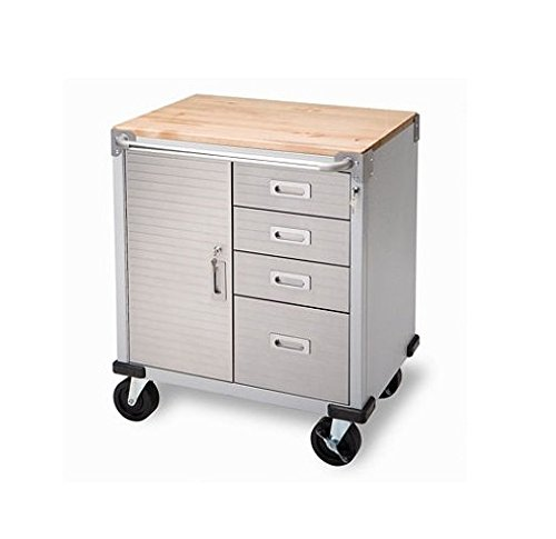 storage cabinet rolling with drawers heavy duty stainless steel 5 inch wheels ebay. Black Bedroom Furniture Sets. Home Design Ideas