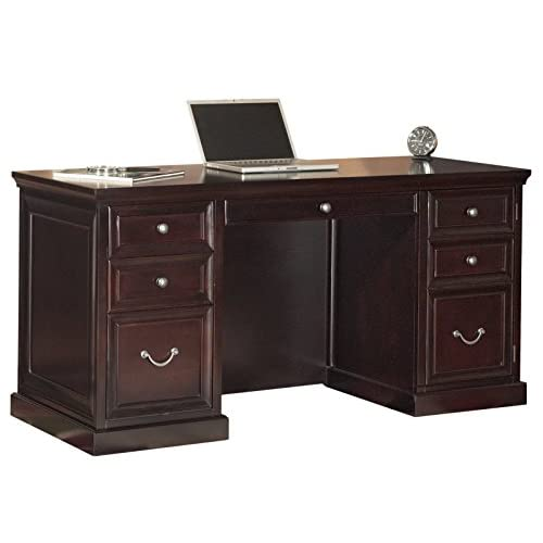 kathy ireland Home by Martin Fulton Space Saver Double Pedestal Desk