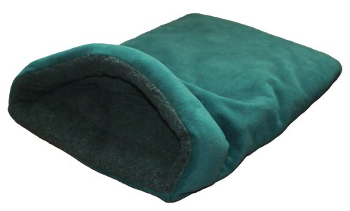 Snuggle Bag Dog Bed, Terrier Tunnel - Small Green Polar Fleece