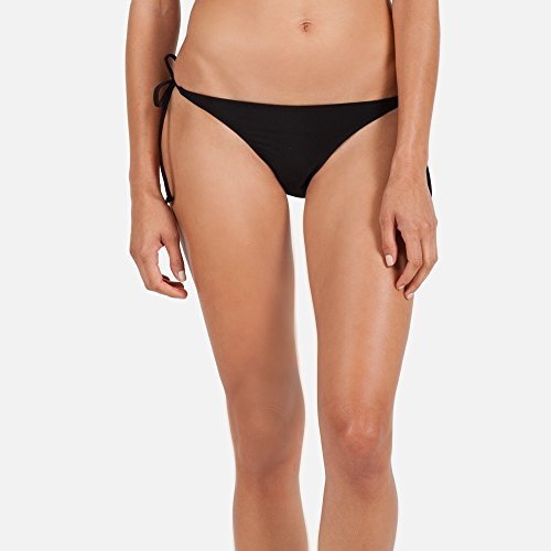 Volcom Juniors Simply Solid Skimpy Bikini Bottom, Black, Small (Solid Side Bikini Bottom compare prices)