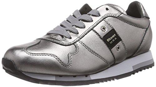 Blauer USAWORUNLOW/LAM - Sneaker donna , Argento (Silber (LAMINATED SILVER)), 36