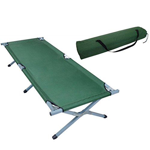 Green Portable Folding Cot Camping Military Hiking