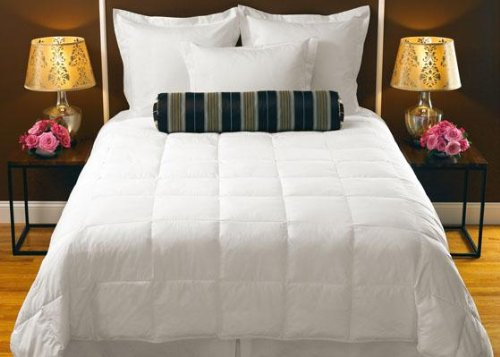 """Down Collection Alternative Comforter, King 106X96"""", White"""