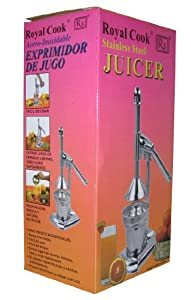 Royal Manual  Lever Press Citrus Juicer, Stainless Steel