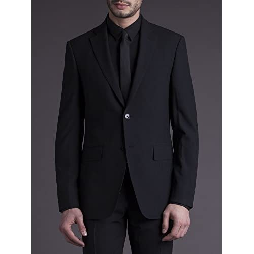 Suit Direct Cerruti 1881 Black Shadow Stripe Suit - Classic Tailored Fit Two Piece Suit