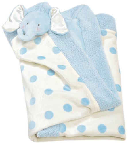 "Bunnies By The Bay Peanut Blanket, Blue, 30"" x 30"""