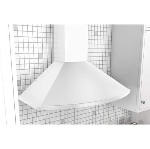 Zephyr ZSA-M90C 685 CFM 36 Inch Wide Europa Wall Mount Range Hood with Centrifug, White (White Range Hood Wall Mount compare prices)