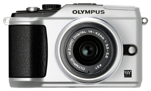 Olympus E-PL2 Compact System Camera - Silver (includes M.ZUIKO DIGITAL 14-42mm 1:3.5-5.6 II Silver Lens)