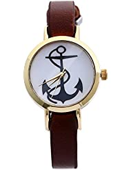 Zillion Small Anchor Print Dial Analog Watch For Women, Girls