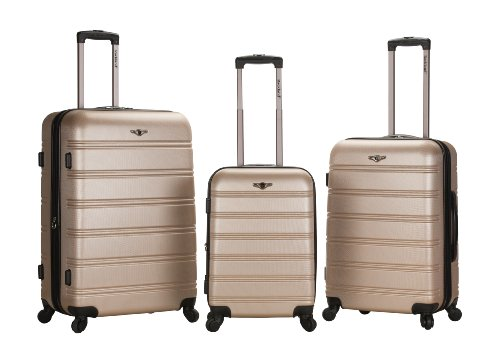 Rockland Luggage Melbourne 3 Piece Set, Champagne, One Size B00BTK17JI