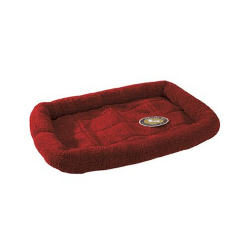 Slumber Pet Sherpa Dog Crate Bed, X-Small, Wine front-860556