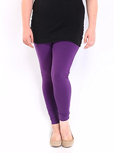 ZpluesX Cotton Lycra Comfortable Leggings for Women (Purple, XXL)  available at amazon for Rs.229
