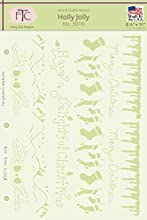 Fairytale Creations Holly Jolly Stencil 8-12quot L x 11quot H
