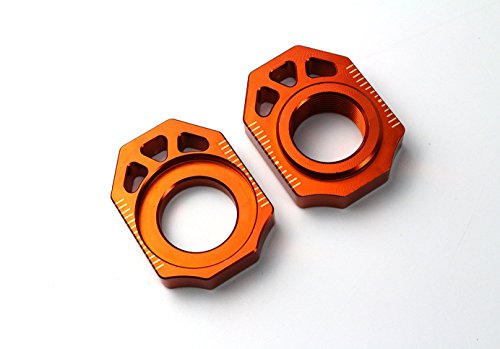 CNC Rear Chain Adjuster Axle Block for KTM SX SX-F XC XC-F 125 250 350 450 530 HUSQVARNA TC125 FC350 FC250 FC450 2016 Motocross Off Road Dirt Bike (Orange1) (Ktm 250 Sx Dirt Bike compare prices)
