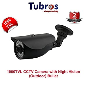 Tubros 1000TVL CCTV Camera with 30Mtr. Night Vision (36IR LED's) Bullet Type Outdoor