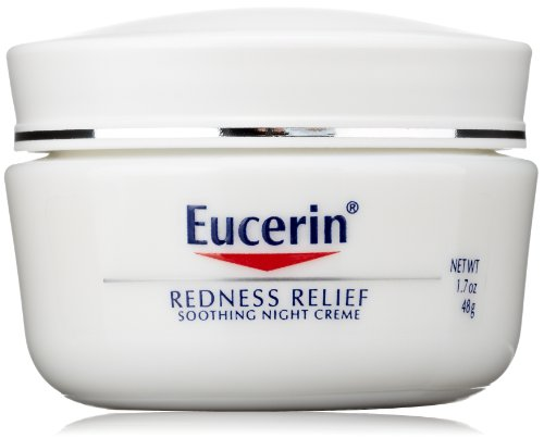 Eucerin Redness Relief Soothing Night Crème, 1.7 Ounce
