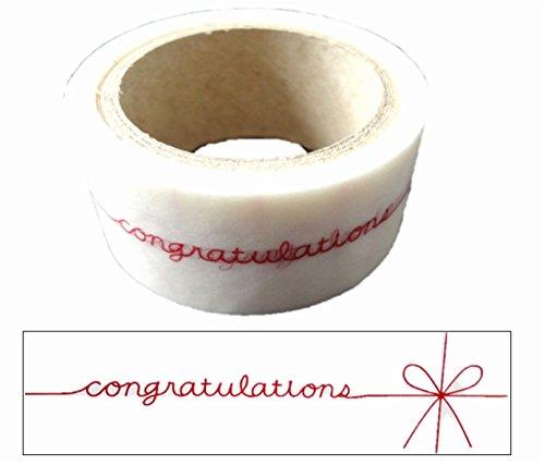 文字 テープ プレゼント ラッピング 差し入れ 飾り 付け かわいい シール (i congratulation)