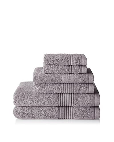 Chortex Ultimate 6-Piece Towel Set, Pewter
