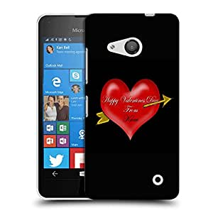 Snoogg Happy Valentines Day Designer Protective Back Case Cover For LUMIA 550
