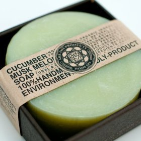 ARB - Aromatherapy Organic Face & Body Bar Soap Round Shape - CUCUMBER & MUSK MELON