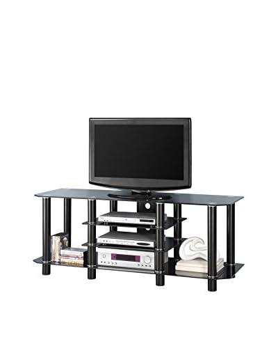 Walker Edison Glass TV Stand, Black