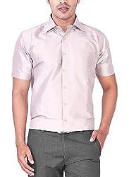 Mark Anderson Men's Raw Silk Grey Shirt