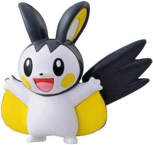 "Takara Tomy Pokemon Monster Collection Mini Figure - 1.5"" Emonga / Emolga (M-028) (Japanese Import) - 1"