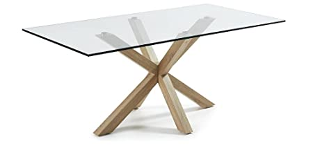 The Form-ARYA Table 200 X 100 cm Natural Laminate Clear
