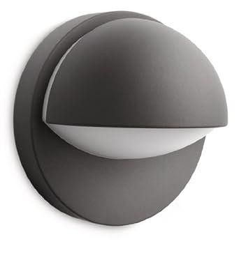 Philips june lampada da parete down per esterno alluminio - Philips lampade esterno ...