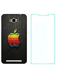TREECASE Designer Printed Soft Silicone Back Case Cover For Asus Zenfone Max ZC550KL + Temper Screen Guard