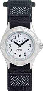 Timex Kids' T79051 My First Outdoor Black Fast Wrap Velcro Strap Watch