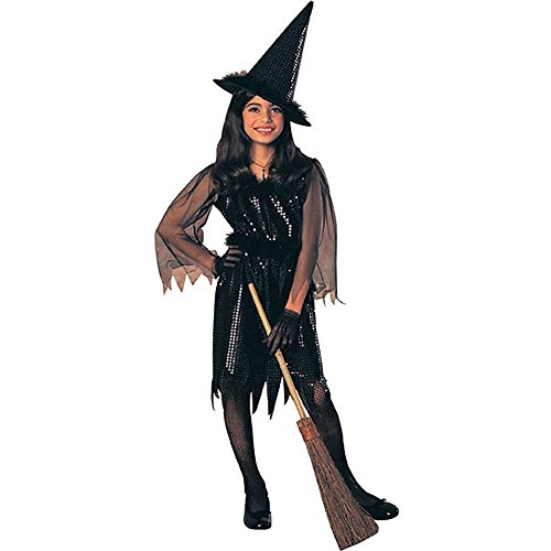 Black Sequin Witch Kids Costume