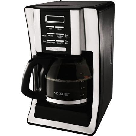 2X Mr. Coffee BVMC-SJX33GT 12-Cup Programmable Coffeemaker, Chrome