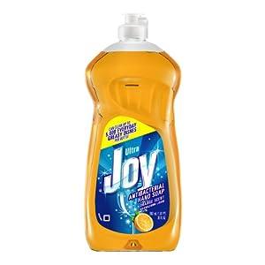Joy Ultra Antibacterial Hand Soap Dishwashing Liquid, Orange Scent, 30 Ounce (Pack of 5)